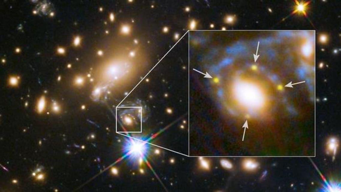 Einstein Cross Supernova lensing effect Twitter