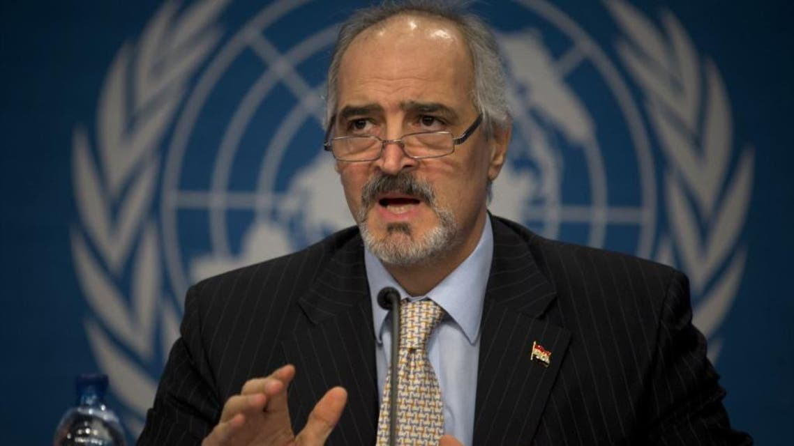 Syrian Ambassador to the United Nations, Bashar Ja'afari, speaks during a press conference during the Syrian peace talks in Montreux, Switzerland, Jan. 22, 2014. (AP)