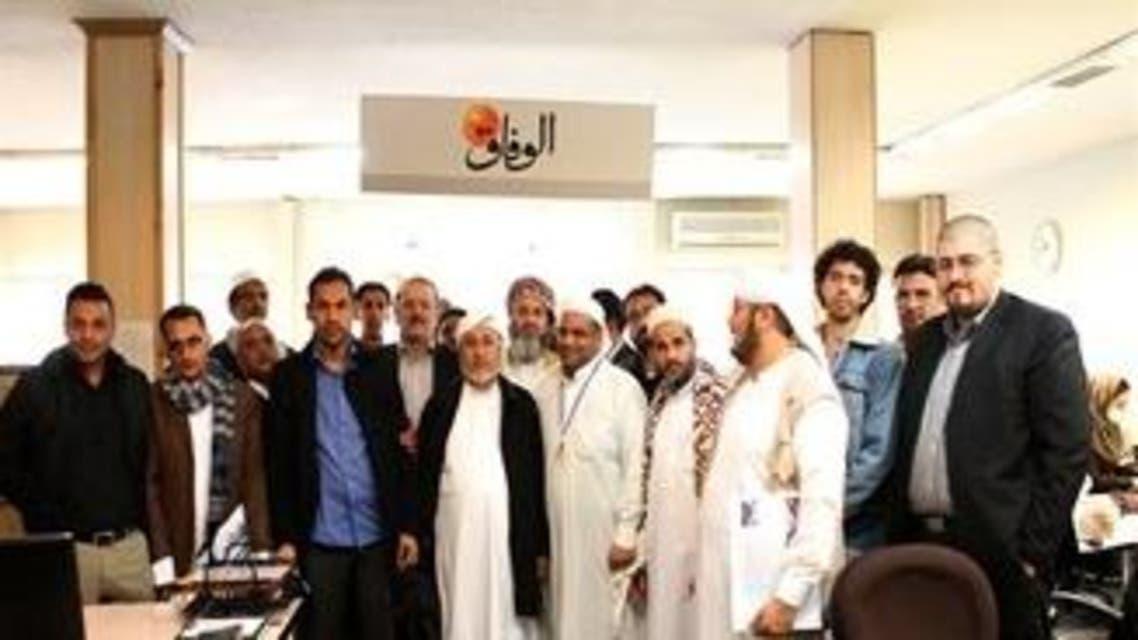 وفد الحوثيين في طهران
