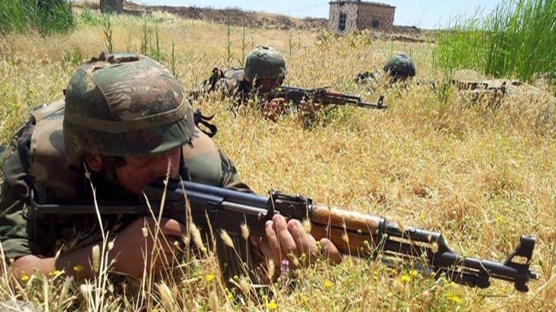 عناصر من جيش النظام السوري سوريا