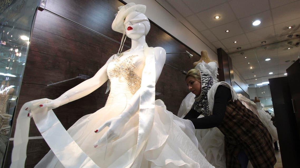 Bridal gown in central Tehran AP
