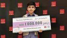 Syrian boy, 7, wins million-dirham prize in Dubai