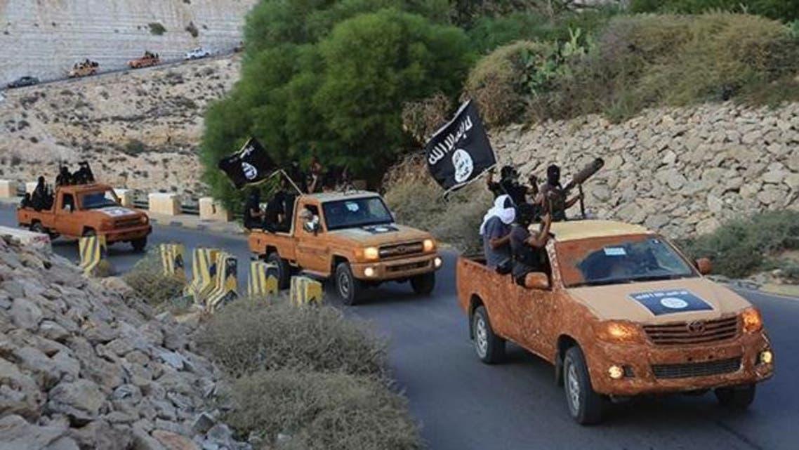 Libya ISIS motorcade. (Still image from Youtube)