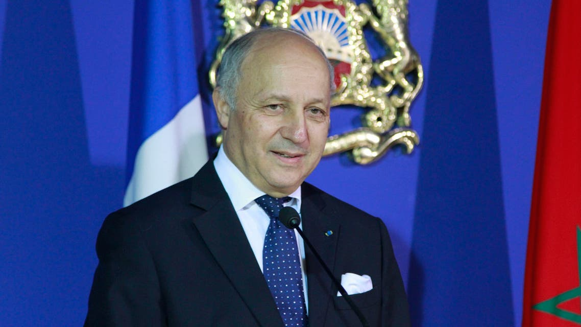 French Foreign Minister Laurent Fabius in Rabat AP