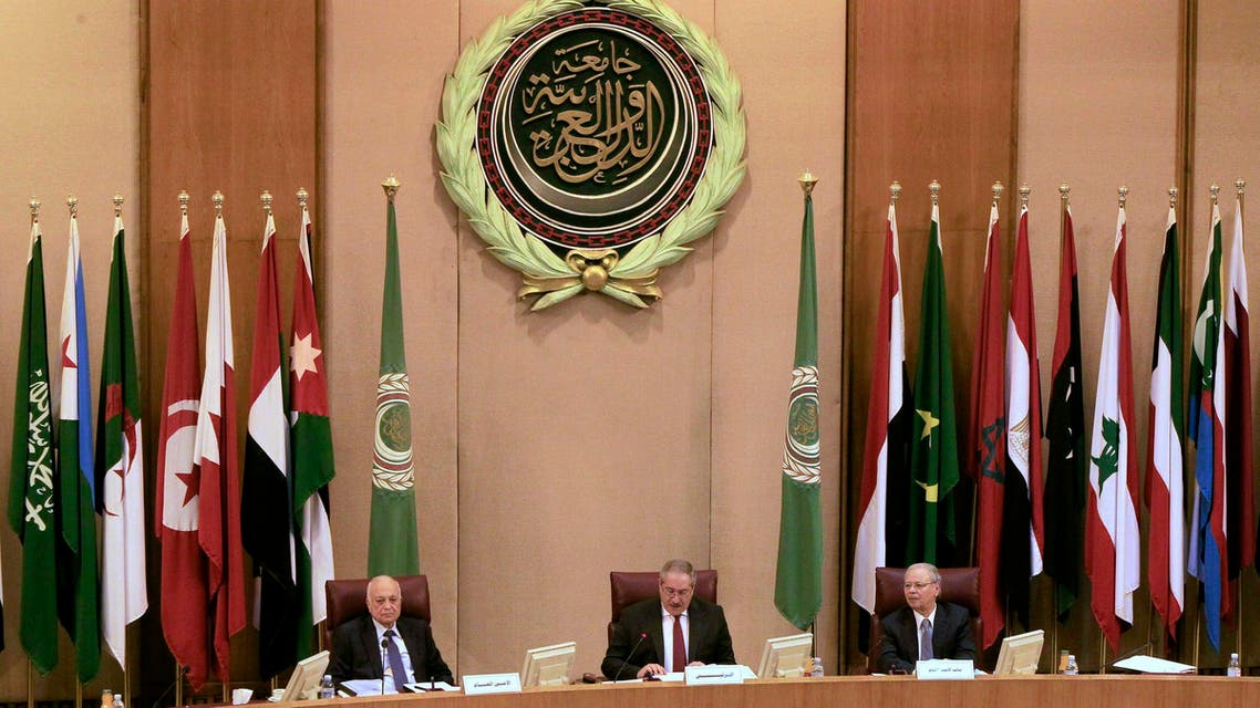 Foreign ministers of the Arab League take part in an emergency meeting at the League's headquarters in Cairo March 9, 2015. Reuters
