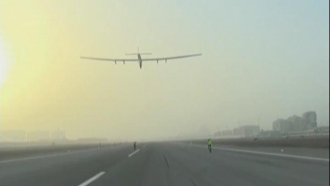 THUMBNAIL_ أول طائرة من دون قطرة وقود تقلع من أبوظبي
