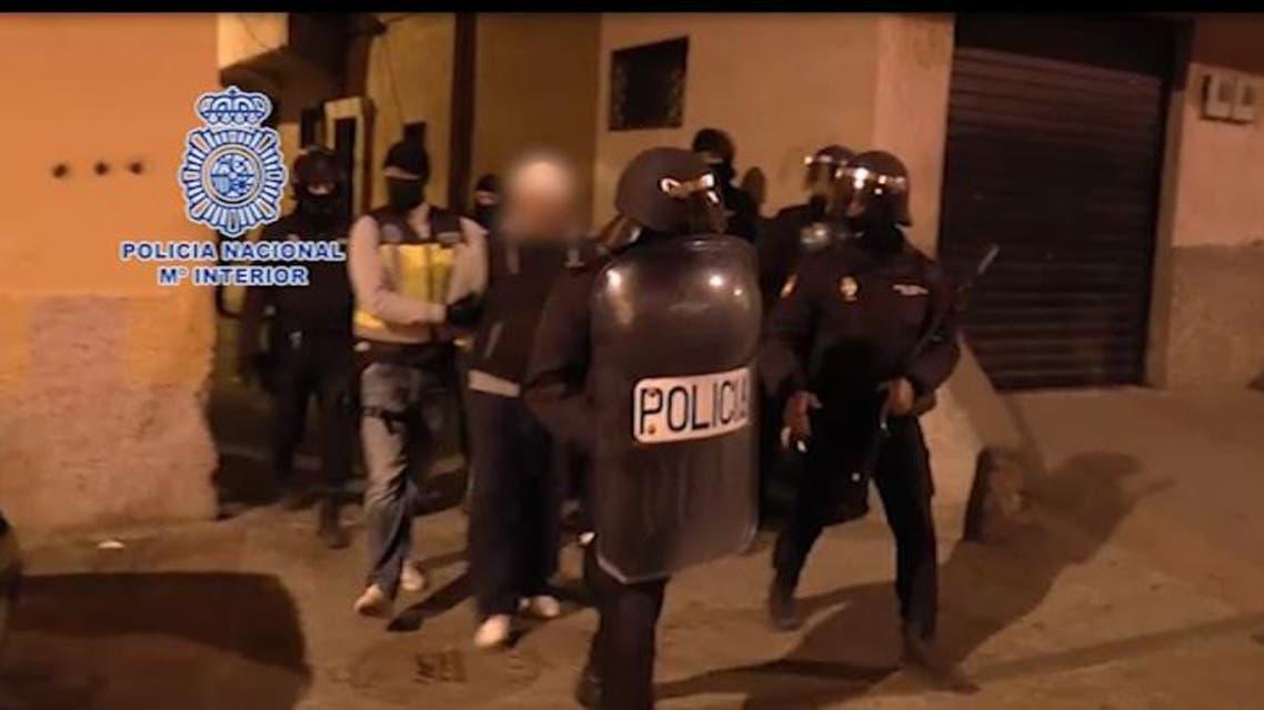 صورة توقيف الجهاديين بإسبانيا