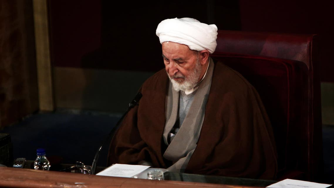 Iran's former judiciary chief Mohammad Yazdi attends a session of the Assembly of Experts in the capital Tehran on March 10, 2015, before being appointed as the new head of the Assembly. AFP
