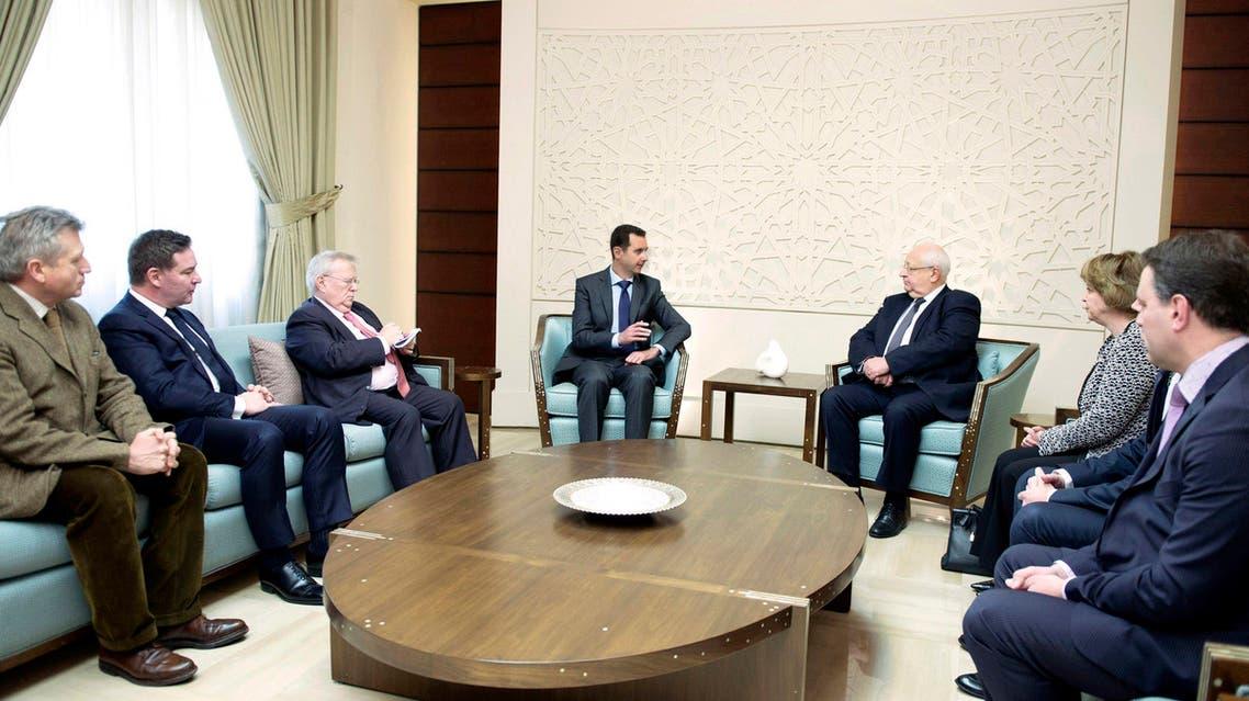 لقاء الأسد مع نواب فرنسيين