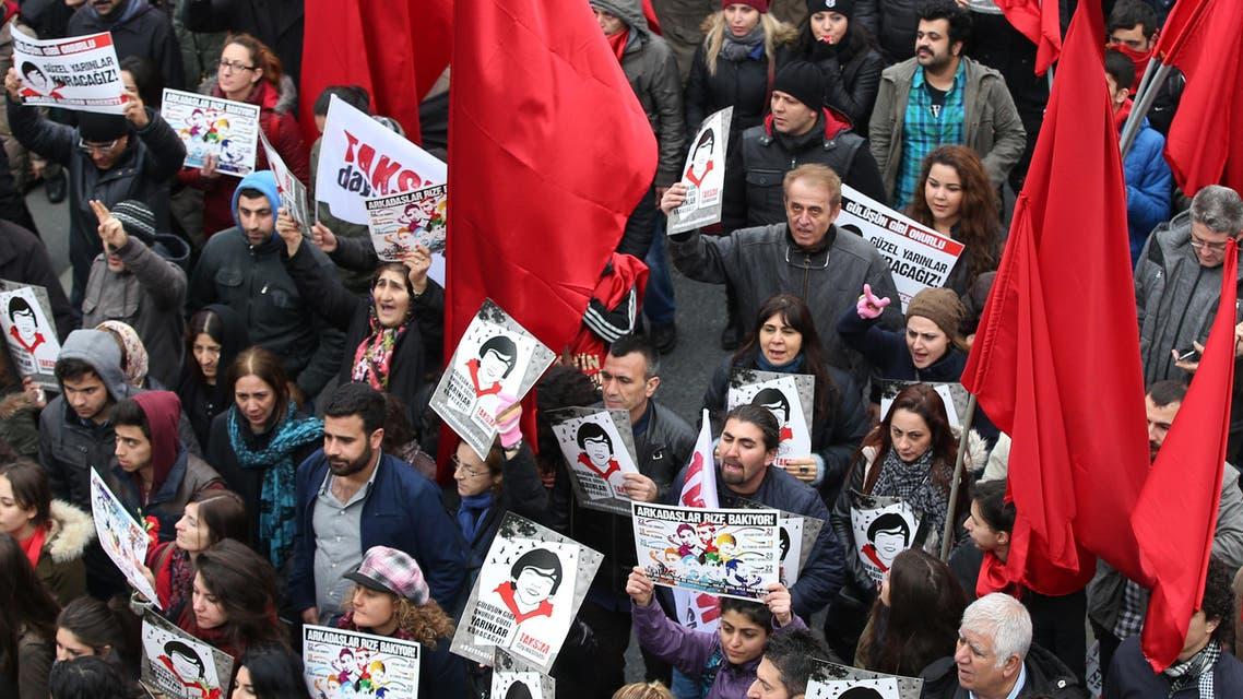 Turkey police break up protests remembering slain teen (AP)