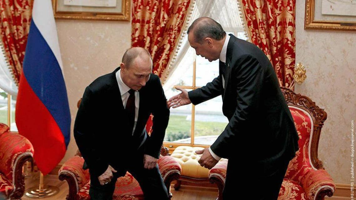 صورة من 2012 ل بوتين و اردوغان