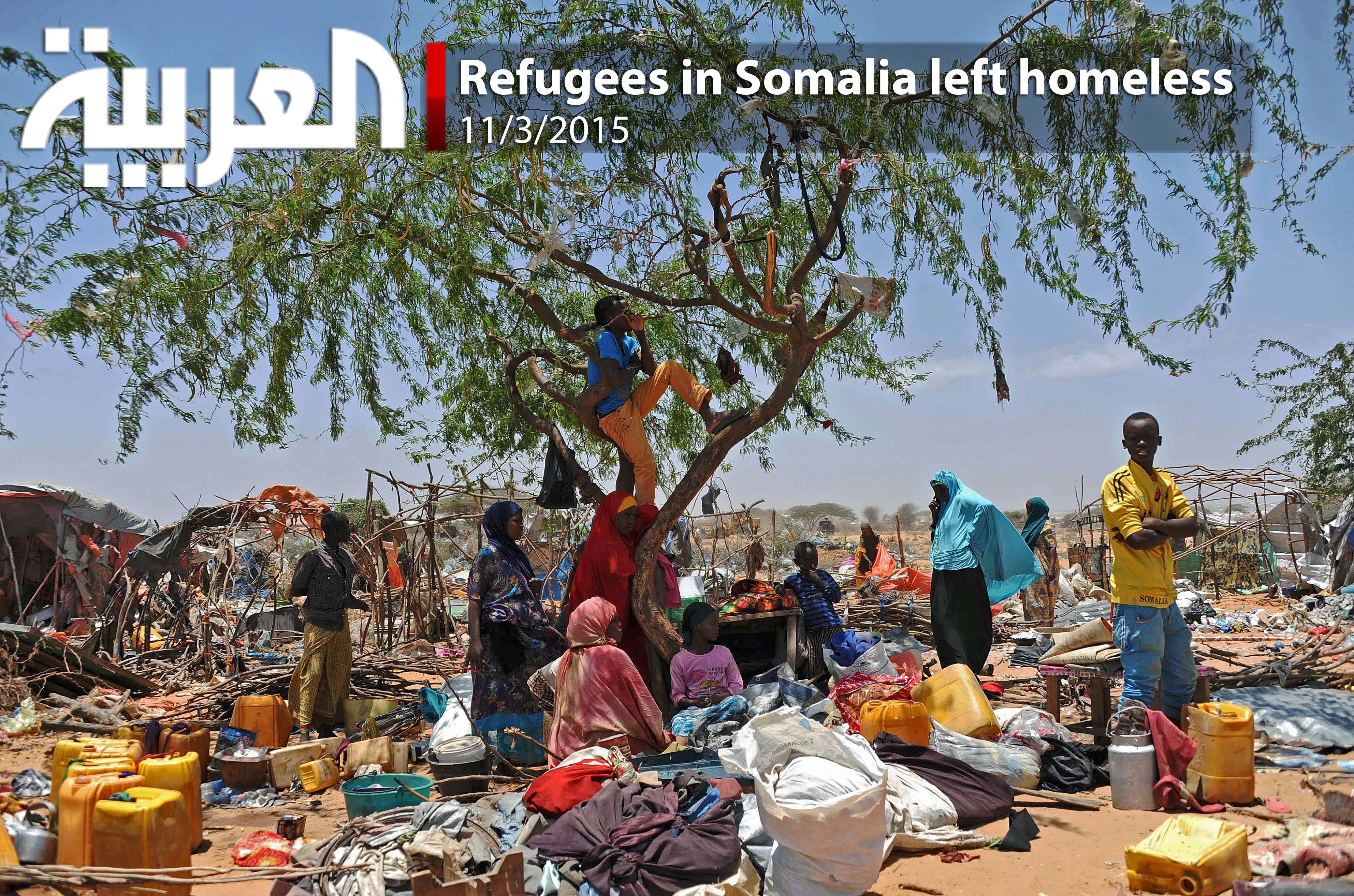 Refugees in Somalia left homeless