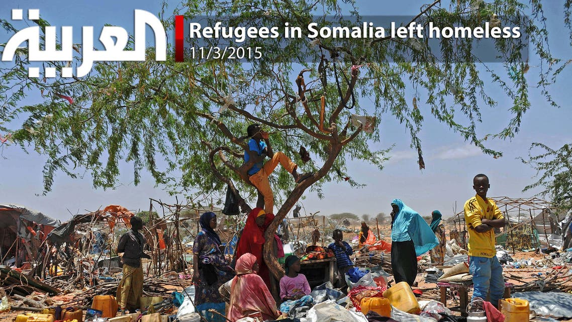 Refugees in Somalia left homeless