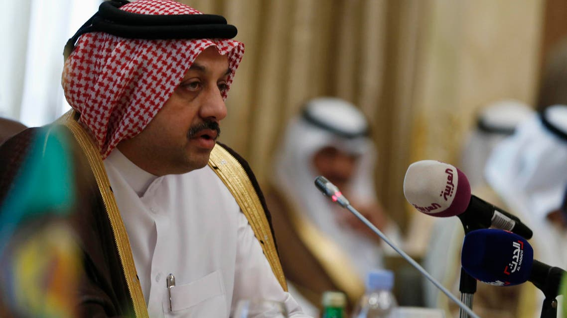 Qatar's Foreign Minister Khalid bin Mohamed Al-Attiyah presides over the Gulf Cooperation Council (GCC) meeting in Riyadh March 12, 2015. (Reuters)