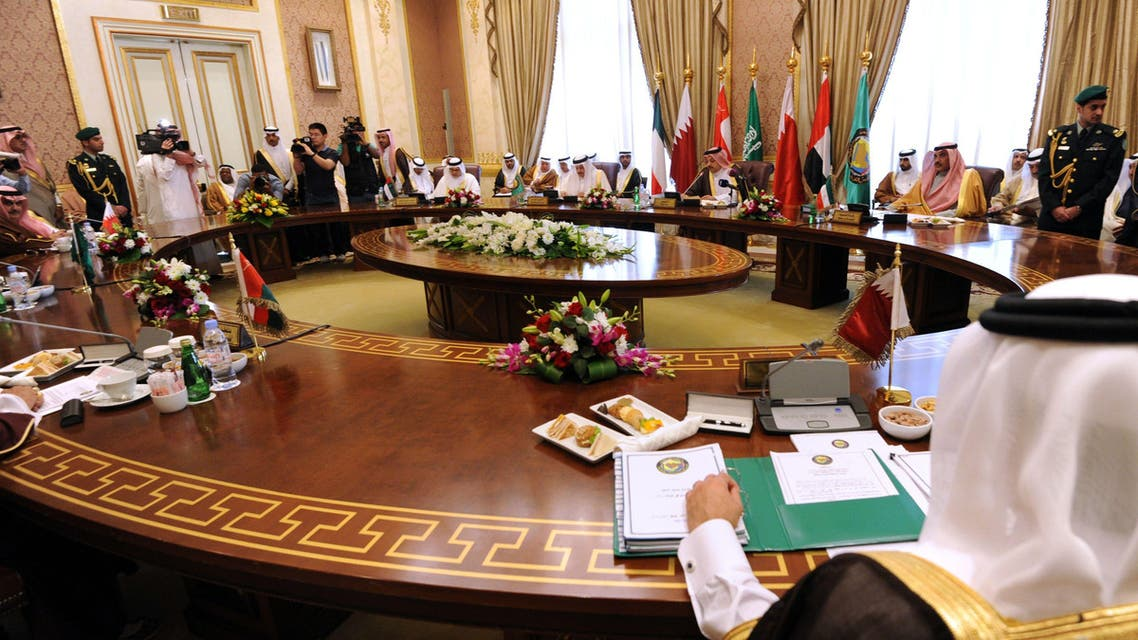 A general view shows the ordinary meeting of 134th session of the Gulf Cooperation Council (GCC), on March 12, 2015 in Riyadh. (AFP)
