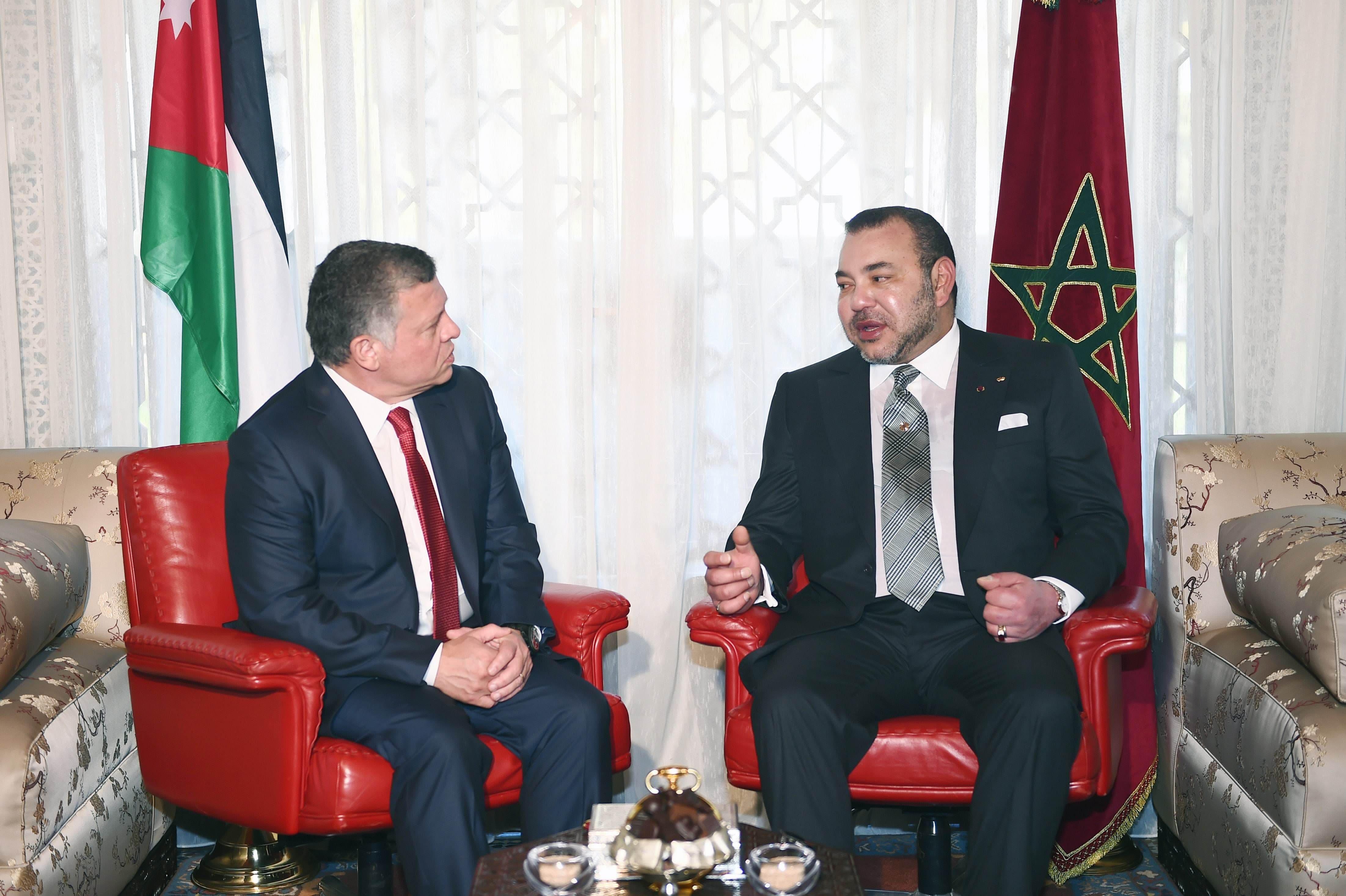 King Abdullah (L) and King Mohammed VI Jordan Morocco (R). (Al Arabiya.net)