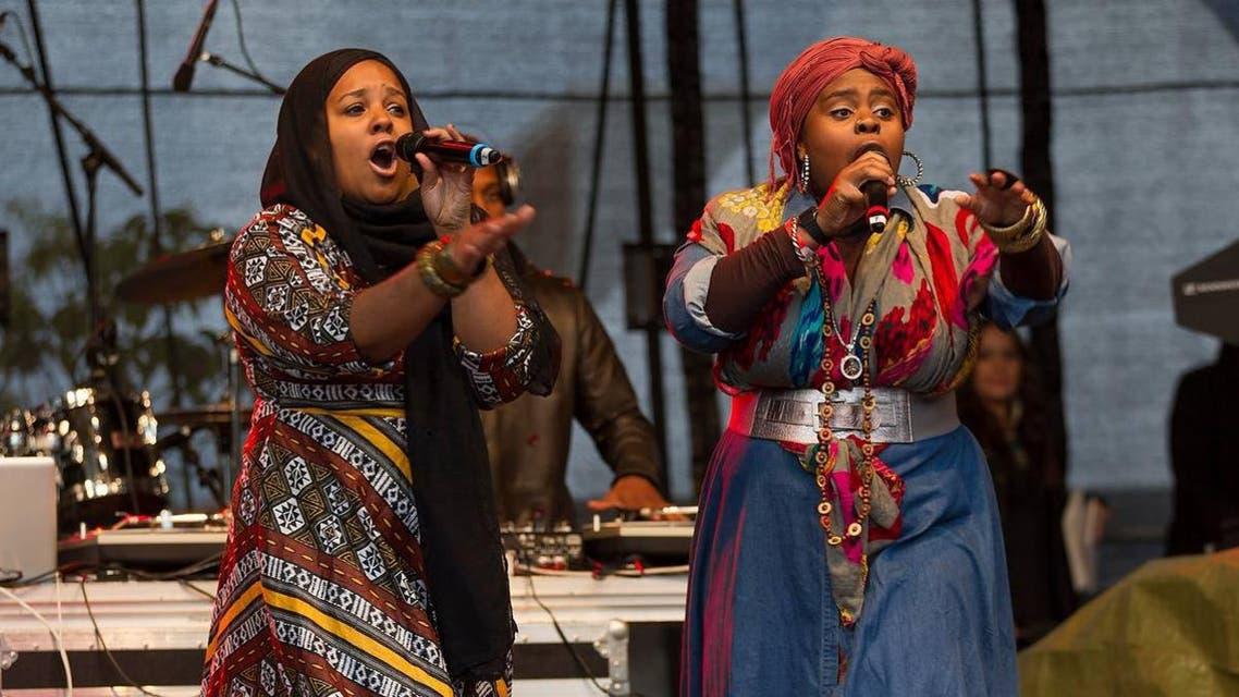 Sukina Douglas and Tanya Muneera Williams perform during one of their electrifying performances. (Photo courtesy: Facebook)