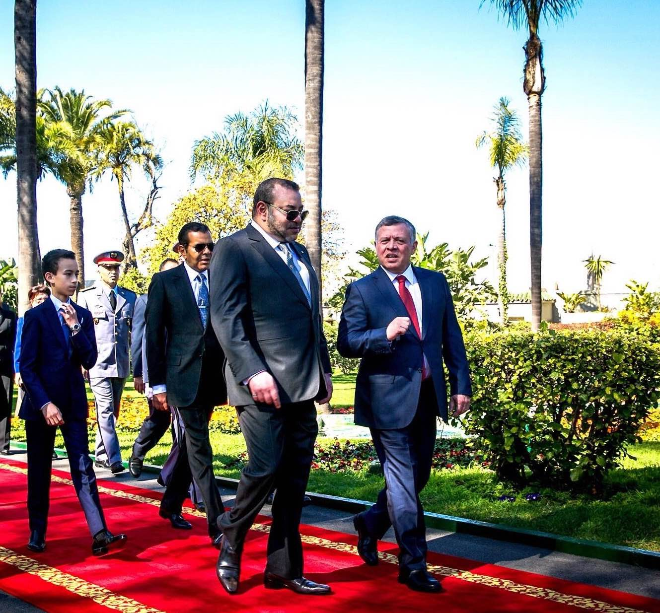 King Abdullah (R) and King Mohammed VI Jordan Morocco (L). (Al Arabiya.net)