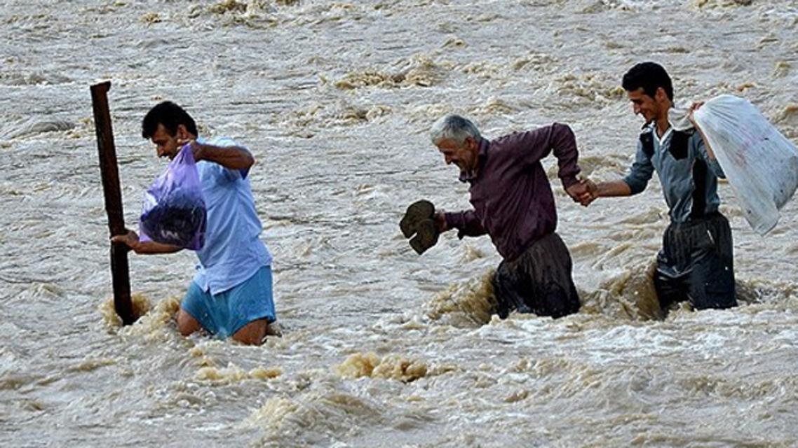 امطار و فيضانات في مدينة بندر عباس في ايران