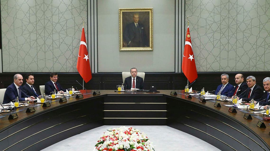urkey's President Tayyip Erdogan chairs a meeting with cabinet ministers at the Presidential Palace in Ankara March 9, 2015.  (Reuters)