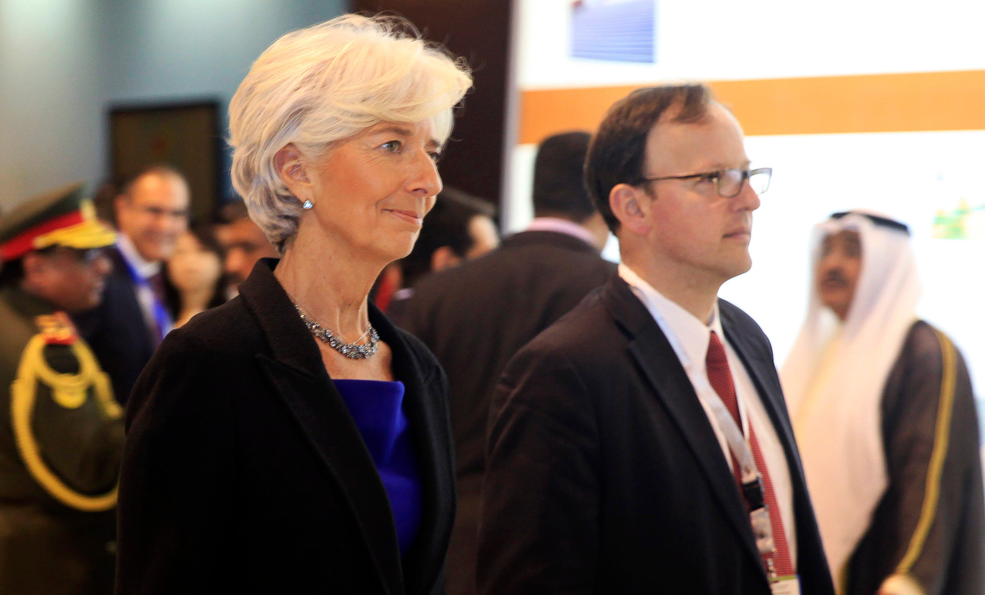 International Monetary Fund (IMF) Managing Director Christine Lagarde arrives for the opening of the Egypt Economic Development Conference (EEDC) in Sharm el-Sheikh, in the South Sinai governorate, about 550 km (342 miles) south of Cairo, March 13, 2015. (Reuters)