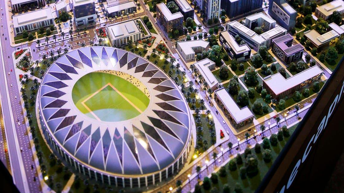 مجسم مشروع مدينة ادارية في مصر شرق القاهرة مؤتمر الاقتصادي