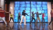 Michelle Obama and U.S. talk show host dance to 'Uptown Funk'