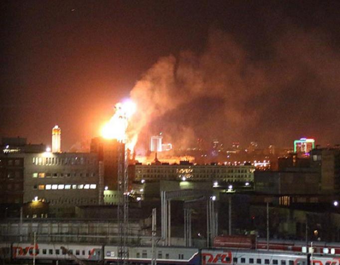 منظر الحريق من بعيد أثار القلق في الموسكوبيين