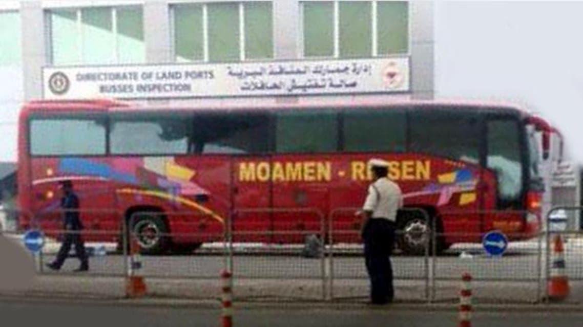 باص حافلة تفجير متفجرات بحرين مطلوب