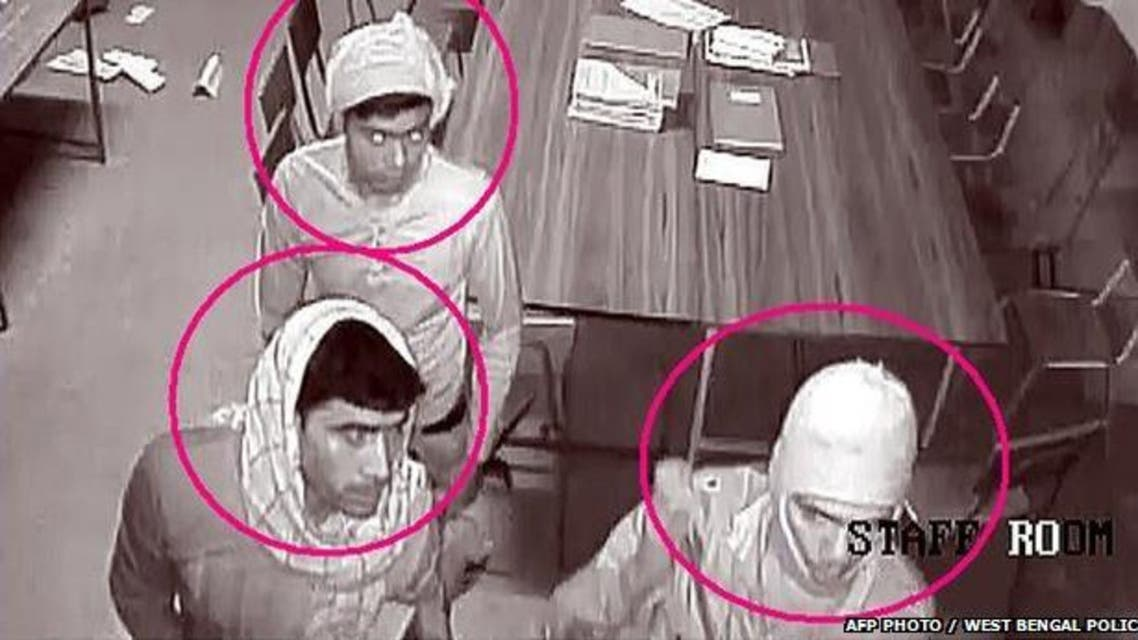 Police have released images of the suspects and offered a reward for any information