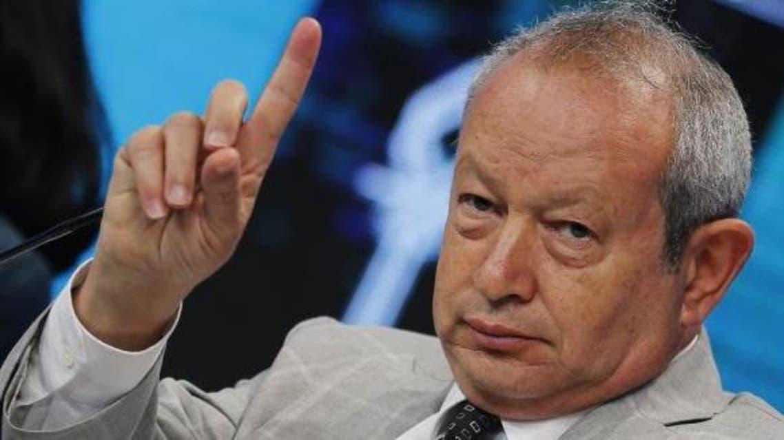 Egyptian billionaire Naguib Sawiris, chairman of Orascom T