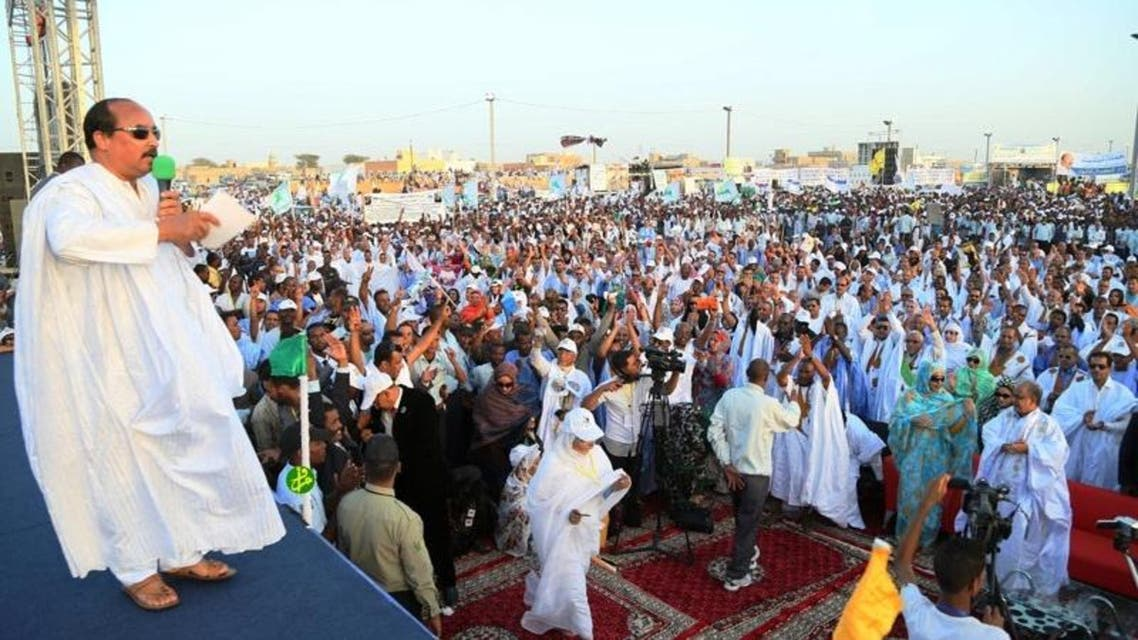 الرئيس الموريتاني في الانتخابات الرئاسية الأخيرة