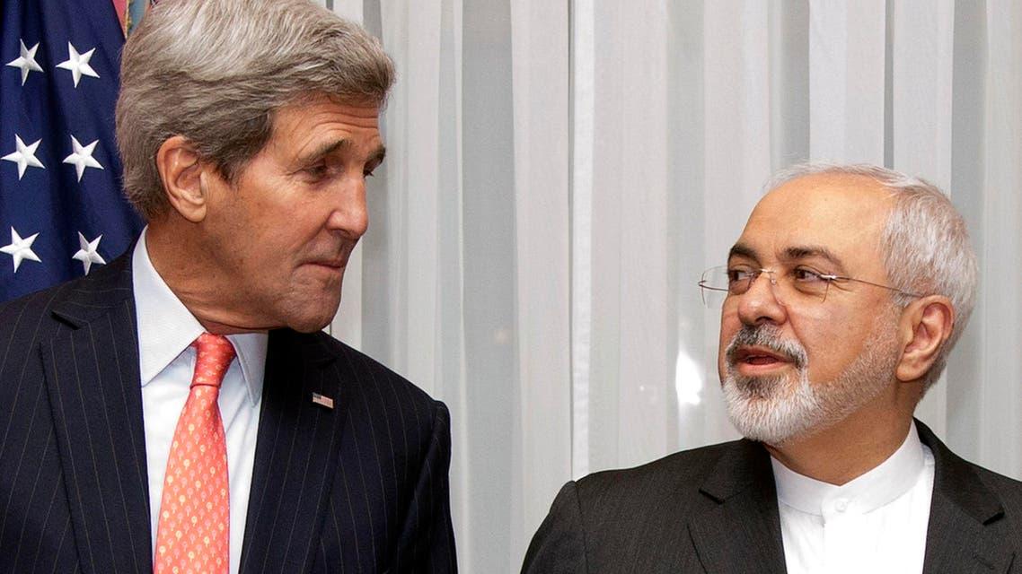 kerry zarif nuclear talks AP