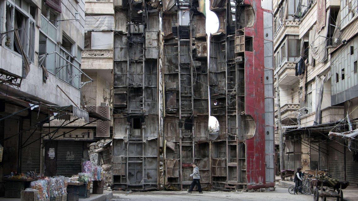 Aleppo AFP bus