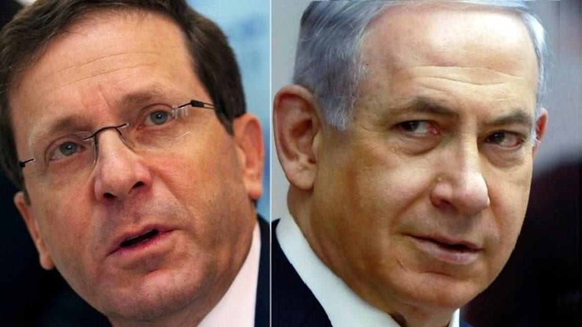 Surging rhetoric against Iran and the Palestinians has apparently done little to close Netanyahu's (R) lag behind center-left opponent Isaac Herzog (L) in opinion polls (File photo: Reuters)