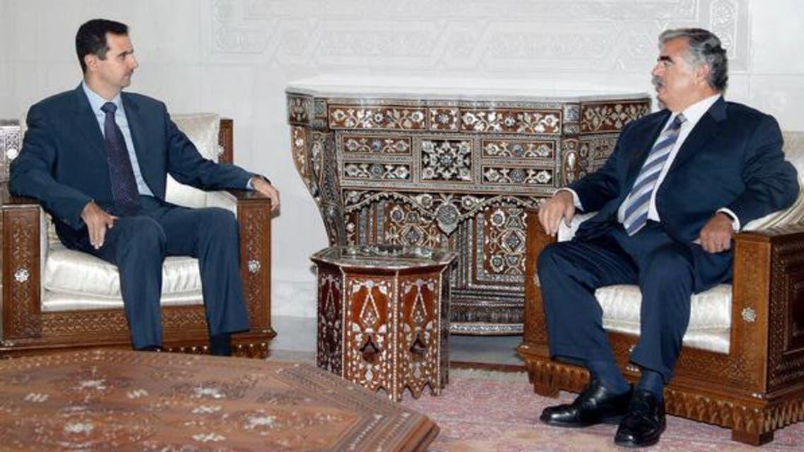 رفيق الحريري وبشار الأسد
