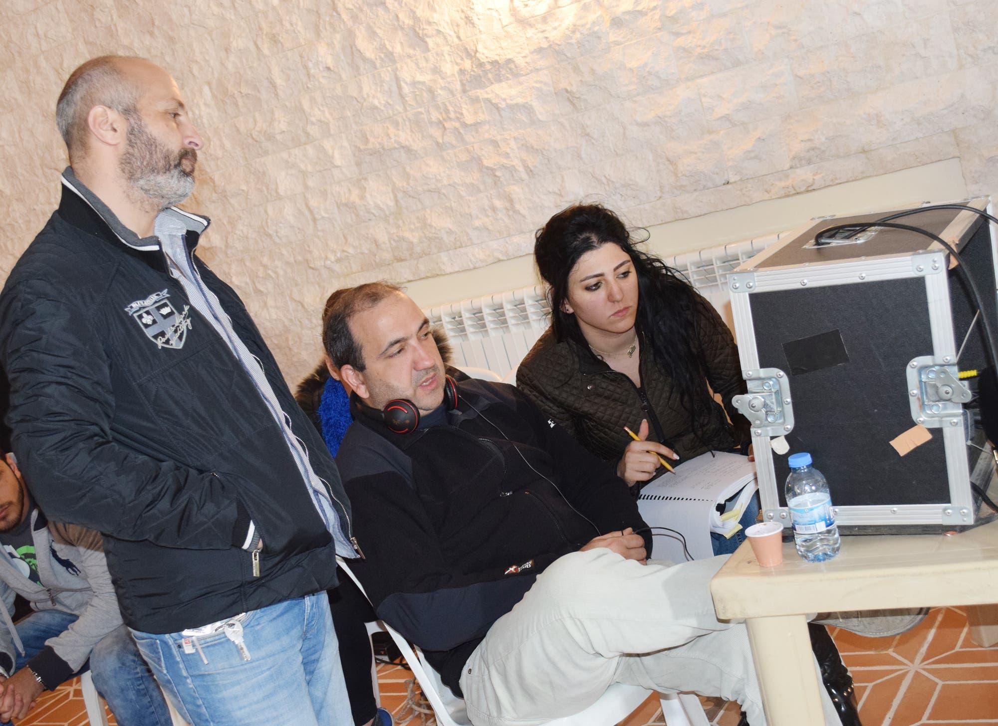 المخرج شارل شلالا وفريق التصوير