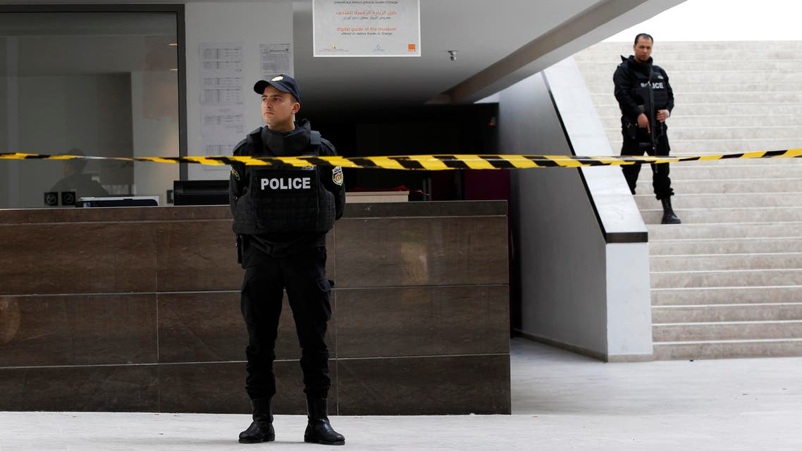 Policemen guard inside the Bardo museum in Tunis, Tunisia, Thursday, March 19, 2015, a day after gunmen opened fire killing over 20 people, mainly tourists.  (AP)