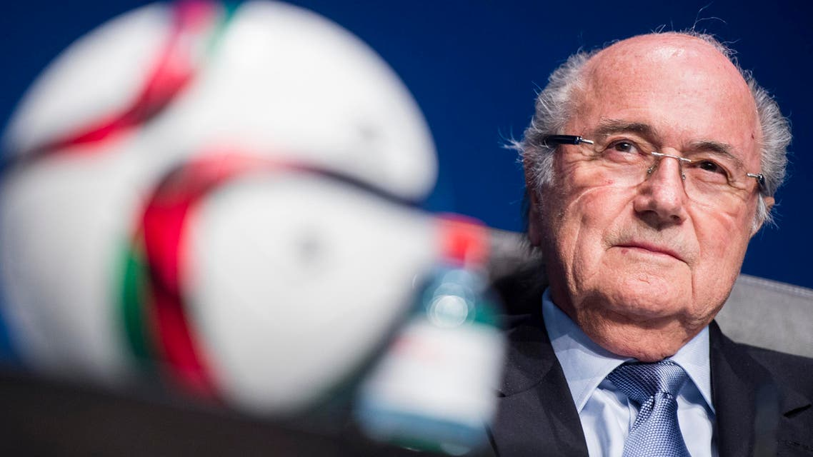 FIFA President Joseph Blatter speaks to journalists following the FIFA Executive Committee meeting in Zurich, Switzerland, on Friday, March 20, 2015. (AP)