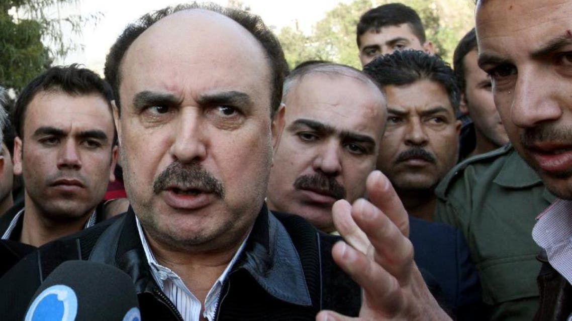 Head of Syrian political intelligence Rustom Ghazaleh, seen here in 2011, was reportedly badly beaten up after a row with another high-ranking official. (File Photo: AFP)
