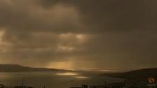 Timelapse captures eclipse over remote Atlantic islands