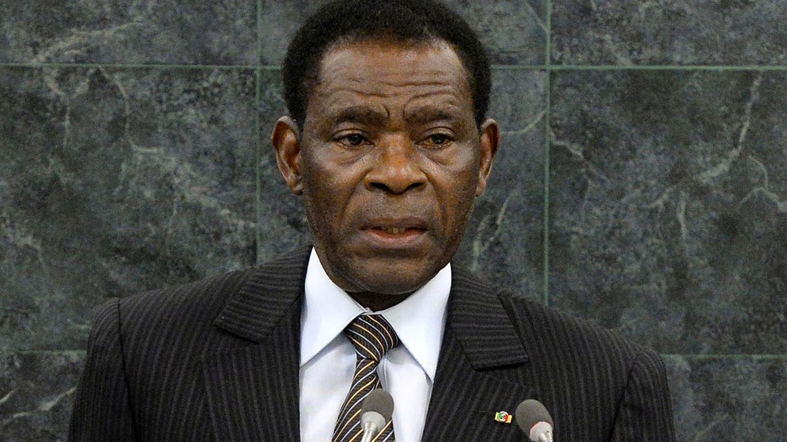 In this file photo taken Thursday Sept. 26, 2013, Teodoro Obiang, the President of Equatorial Guinea, speaks during the general debate of the 68th session of the United Nations General Assembly at the U.N. headquarters.  (AP)