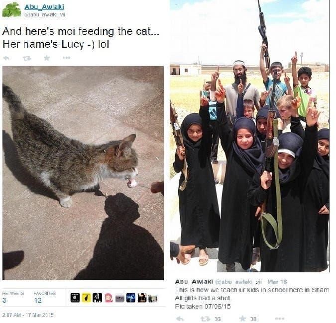 مع صغار الدواعش من فتيان وفتيات والقطة التي سماها لوسي