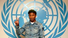'Happy' Pharrell mobbed at U.N. General Assembly