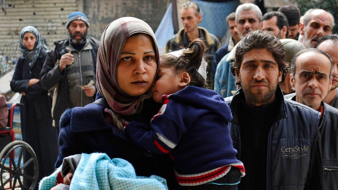 لاجؤون فلسطينيون في اليرموك