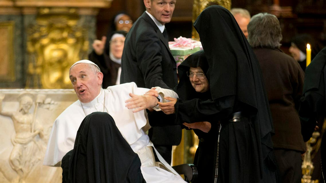 Pope Francis Naples AP