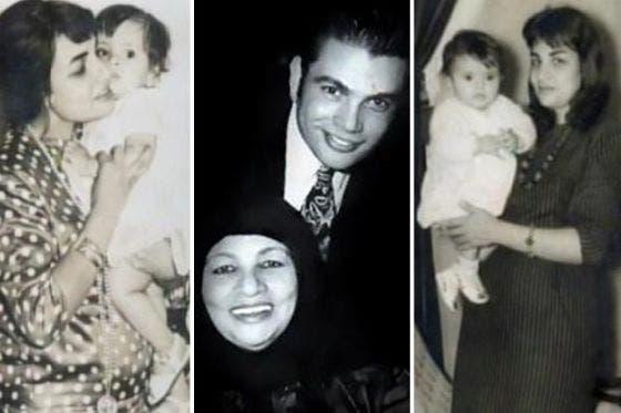 عمرو دياب ووالدته