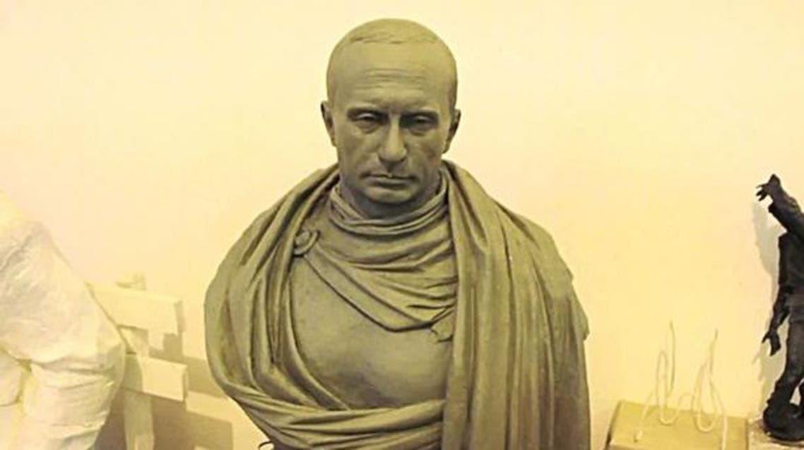 Putin Roman emperor-style bust Twitter