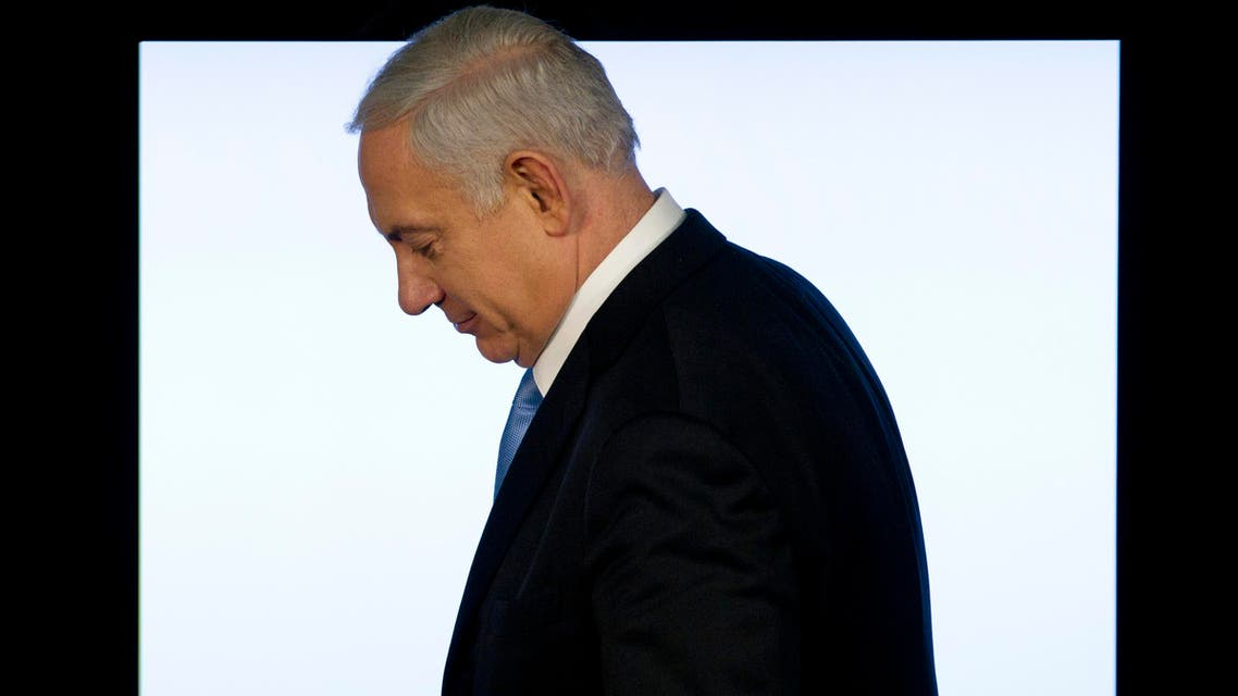 Israeli Prime Minister Benjamin Netanyahu leaves after a press conference in Jerusalem. (File: AP)