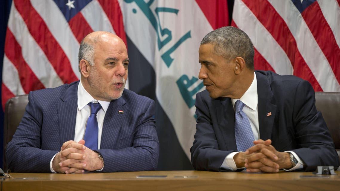 President Barack Obama Iraqi Prime Minister Haidar al-Abadi AP